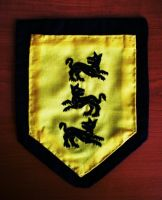 Embroidered Clegane coat of arms by sleepyhamsteri