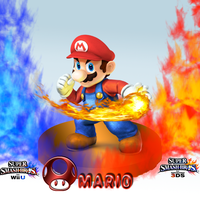 Super Smash Bros. Wii U/3DS-Mario- Wallpaper by CrossoverGamer