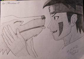 Kiba and Akamaru by Monstacookie