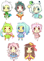 Shop chibis by iheartscookie