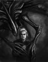 Tribute to Giger-colored by DustyFrames