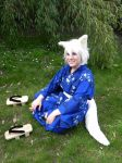 Happy White Fox by sangsahwa