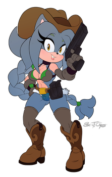 COMMISSION - Cheyenne The Hedgehog [Flat Colors] by scificat