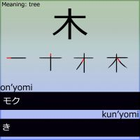 Kanji - Tree by LearningJapanese