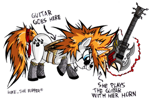 MLP OC - Death Metal by LukeTheRipper