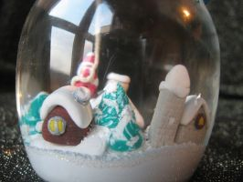 Handmade snowglobe with Santa 3 by SelloCreations