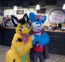 Me and an adorable suiter! by SascoWolfy