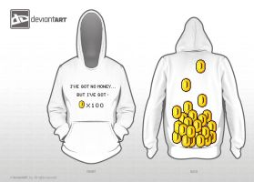 no money but coins - hoody by NicPi