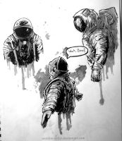 Astronaut quick sketches by an0ther-artist