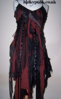 Black and Red Rag Dress by Ibexamber