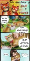 Two red cats - strip 9 - Garlic meatballs by FuriarossaAndMimma