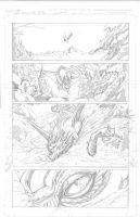Snowmanilas #1, Page 1 PENCILS by Theamat