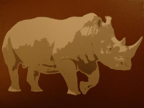 Rhino Canvas by delicnets