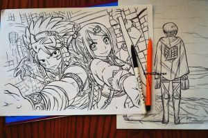 fairy tail sketch by DoreiShounen