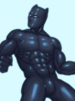 Doodle - Black Panther by nursury0