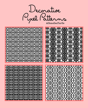 Decorative Pixel Patterns Pack by AlbinoSeaTurtle