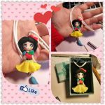 Snow White Disney Handmade Keychain by DarkettinaMarienne