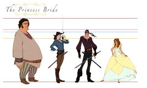 The Princess Bride Line-up by Asashi-Kami
