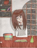 Hermione at Christmas by MayeGirl