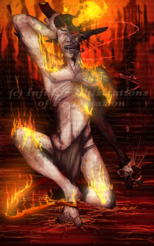 COMMISSION Watch Him Burn COMMISSION by I3-byUsagi
