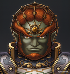 Ganondorf (portrait) by hybridmink