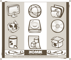 KOMIK Iconset PNG by wilsoninc