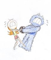 Mary vs Cookie Monster by ilovemycomputer