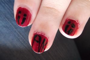 Fearless Vampire Killers Nails by SWPoisonBite