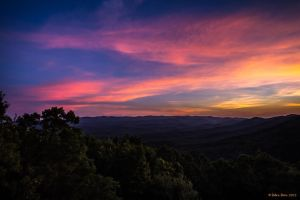 Vibrant Sunset overtop the Georgia Mountains by BettyBoopRox
