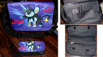 My Luxio shoulder bag and pencil bag by TamerOfAstamon
