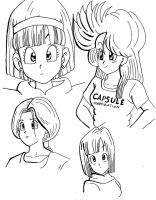 Bulma sketches by LivingDeadGeisha