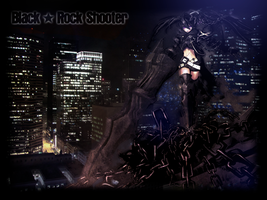 Black Rock Shooter Night City by XxAlOnDrAxX