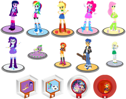 Figures & Power Disc (Equestria Girls) by TDThomasFan725