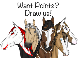 Want Points? Draw My Show Horses! - CLOSED by StoryBookStables