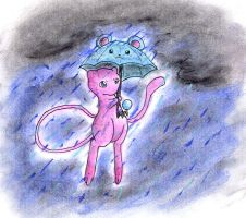 Umbrella Mew by Porcubird