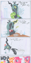 Queen Chrysalis, the Broken Record by TwilightFlopple