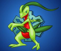 Mystery Dungeon 2: Grovyle by Iron-Zing