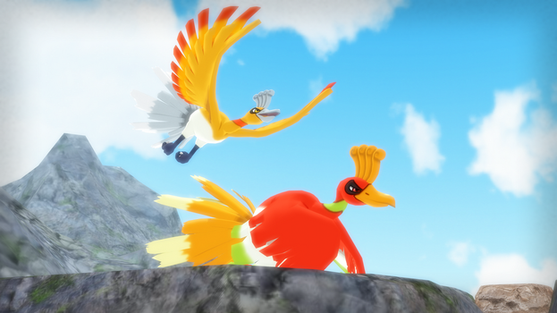 MMD PK Ho-Oh DL by 2234083174