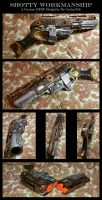 Shotty Workmanship - A Steampunk NERF Sledgefire by CaelynTek