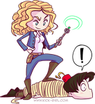 River Song and the Doctor by valval