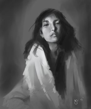 Quick study in Mypaint from photo reference. by gregoo23