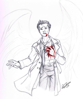 Castiel - Blood -WIP- by EndForEternity