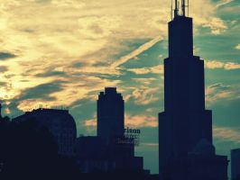 Chicago sky by indieferdie