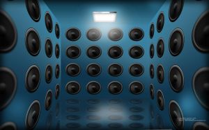 Wall of Speakers by javedscircle