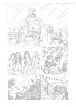 Iron Maiden page 15 pencils by DarrenEmond