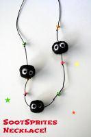 Soot sprites necklace by jina445