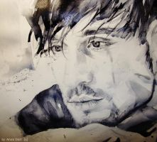 Portrait of Dima Bilan by Anna Dart.watercolour by AnnaDart