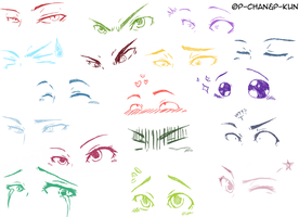 Boredom' Sketches - Eyes by P-ChanAndP-Kun