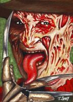 Freddy Krueger Sketch Card by Dr-Horrible