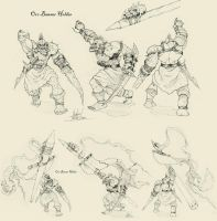 Mountain Orc Banner Holder by geokon712